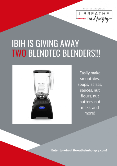 IBIH Blendtec Blender Giveaway poster
