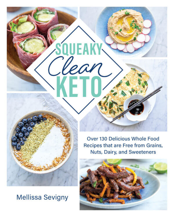Squeaky Clean Keto Book Cover by Mellissa Sevigny