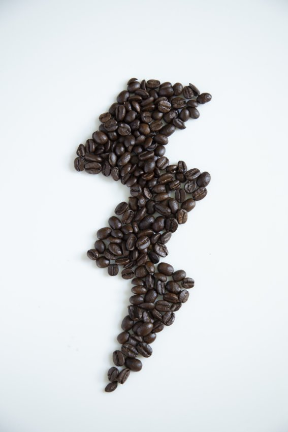 coffee beans in the shape of a lightning bold for essential Keto Pantry guide