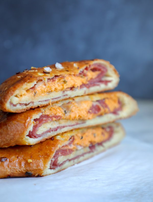 Keto Stromboli – Low Carb Stuffed Bread
