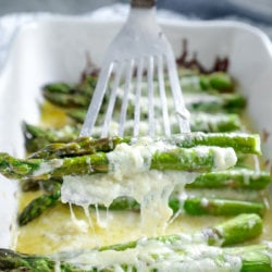 Keto Cheesy Roasted Asparagus Beauty Shot