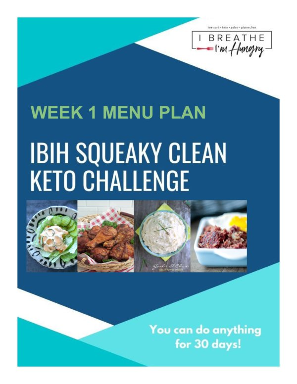 Week 1 Squeaky Clean Keto Meal Plan – SCKC