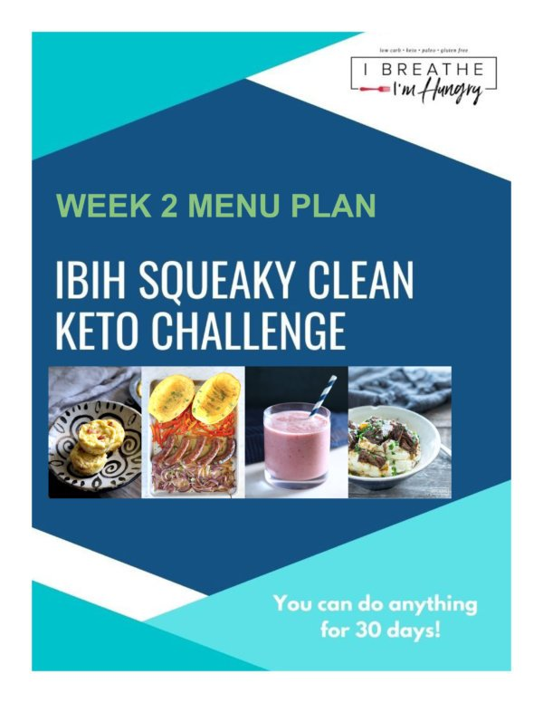 Week 2 Squeaky Clean Keto Meal Plan – SCKC