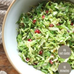 Keto Brussels sprouts Slaw pinterest text