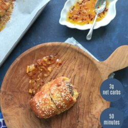 Easy Keto Sausage Rolls for Pinterest