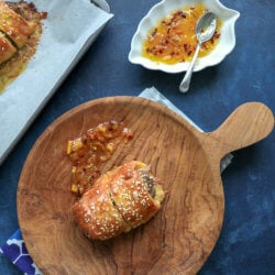 Easy Keto Sausage Rolls with sweet chili sauce