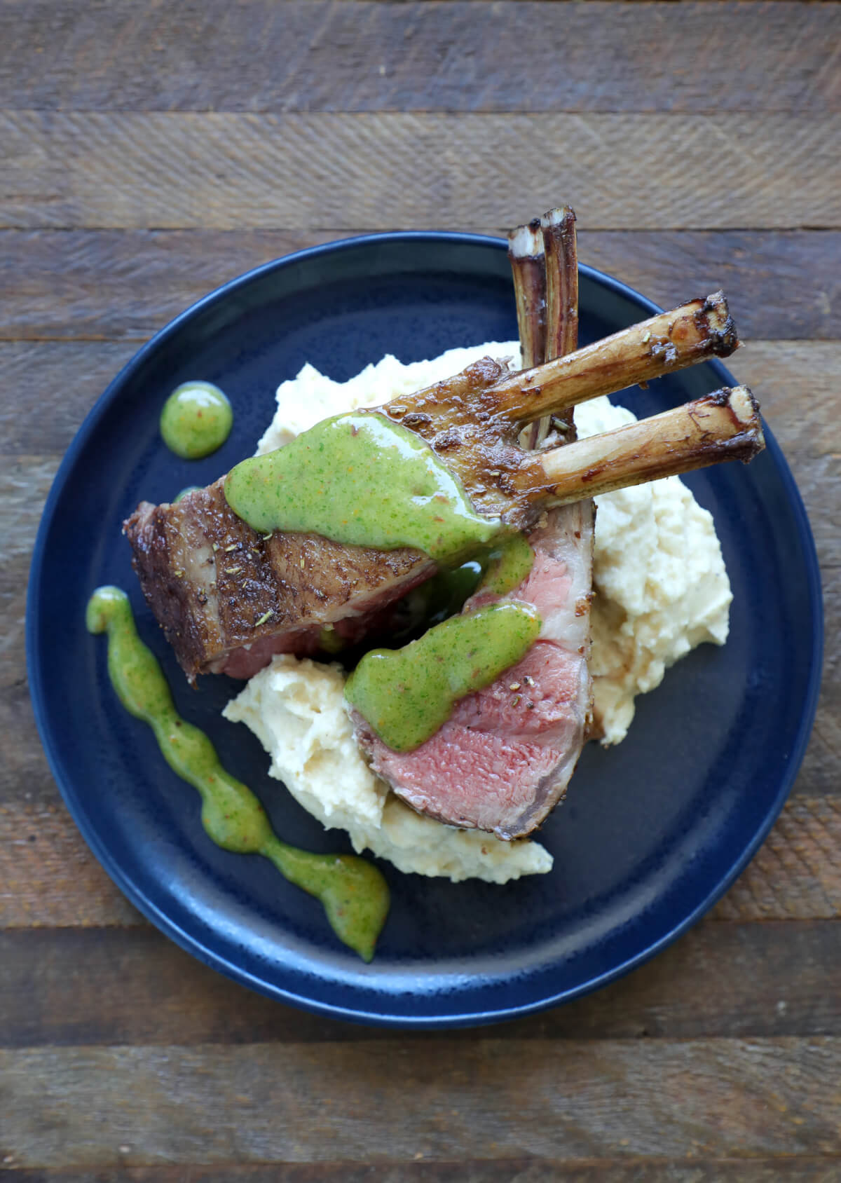 Keto Rack of Lamb with spicy mint marmalade