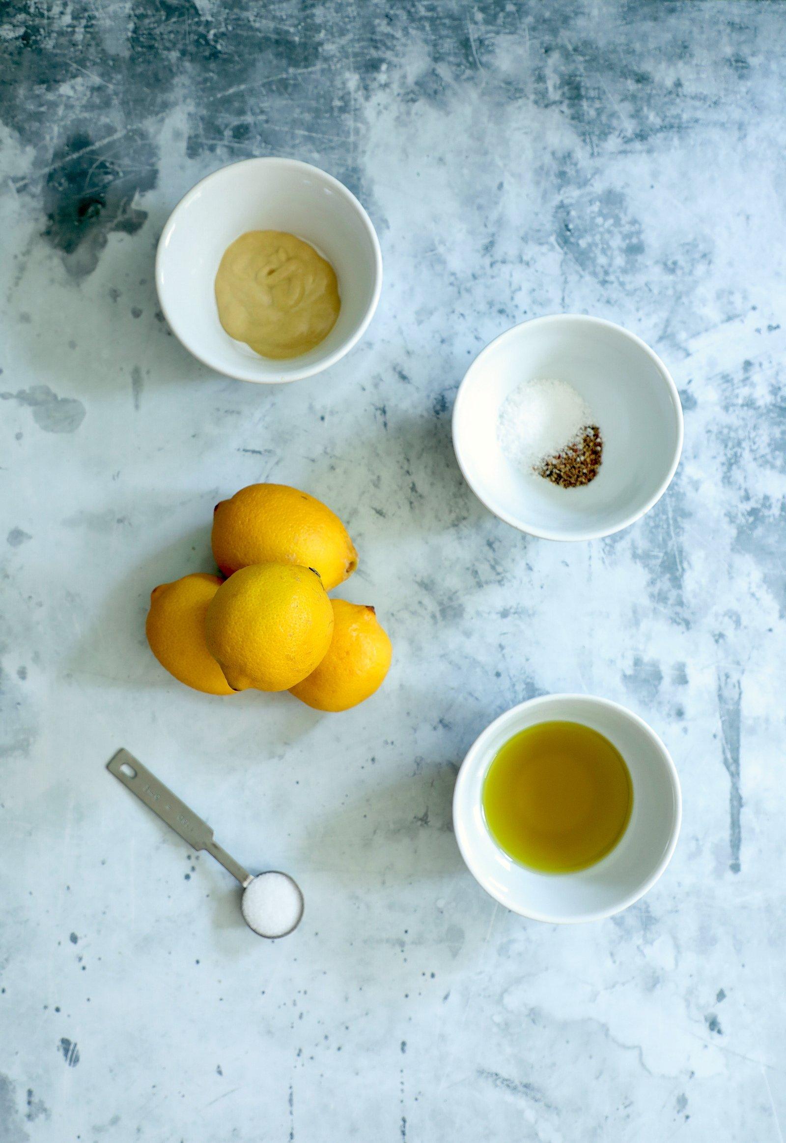 Keto lemon Dressing Ingredients
