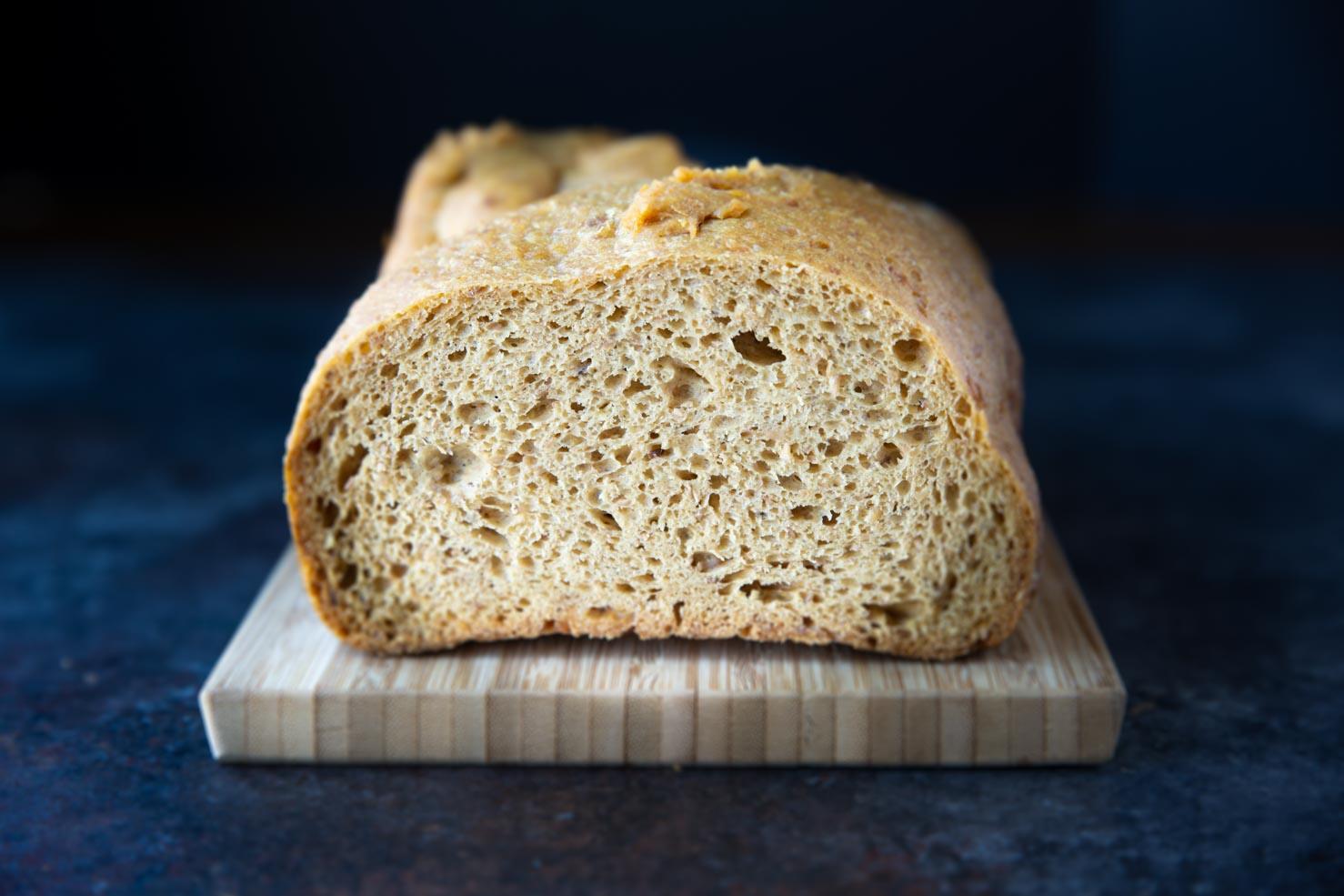10 best keto bread recipes - a loaf made in a bread machine