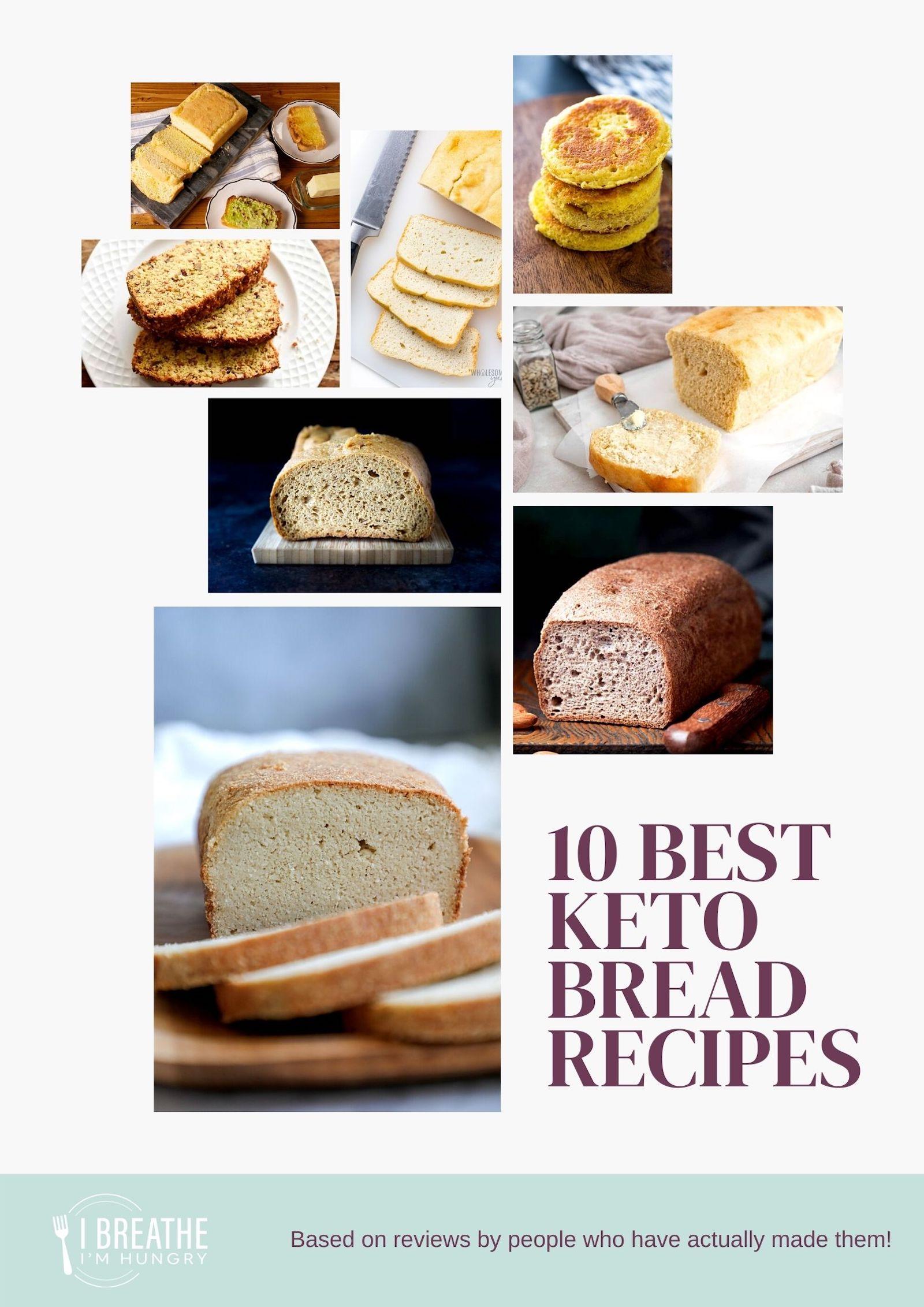 10 Best Keto Bread Recipes graphic